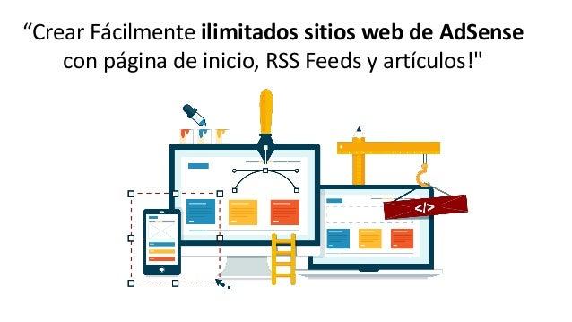 Crear sitios web con adsense sites Slide 2