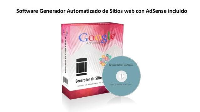 Crear sitios web con adsense sites Slide 3