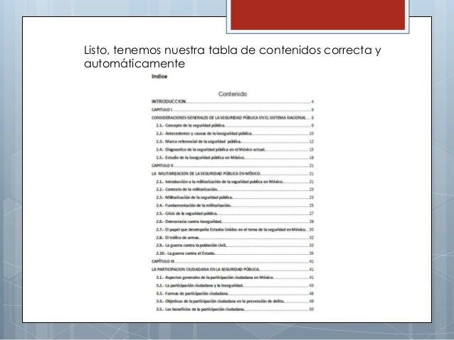 crear tabla de contenidos en word 2010