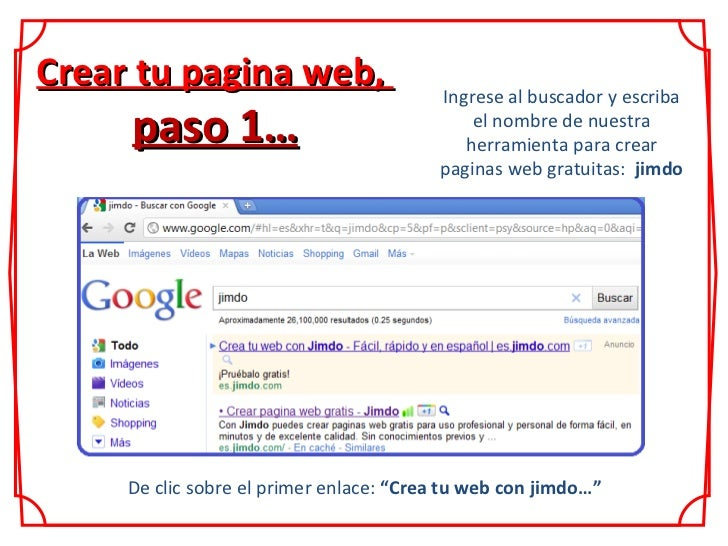 Crear tu pagina web paso a paso Crear website