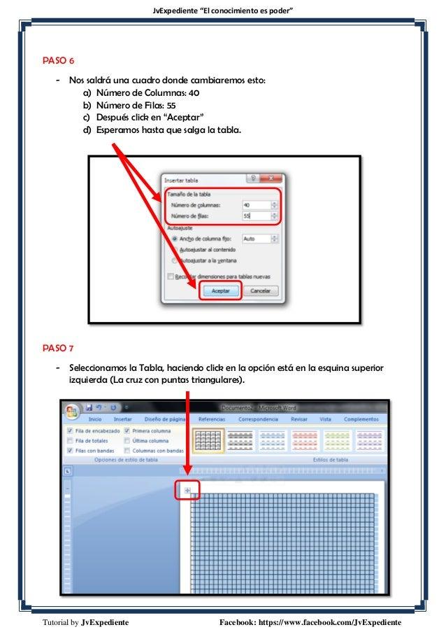 Crear Una Hoja Cuadriculada En Microsoft Word 2007