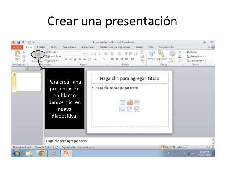 Crear una presentacion Slide 2