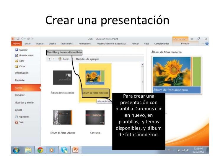 Crear una presentacion Slide 3