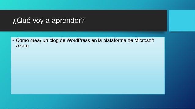 Crear un blog de word press Slide 2