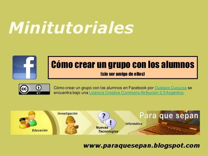 Cómo crear un grupo con los alumnos                       (sin ser amigo de ellos)Cómo crear un grupo con los alumnos en F...