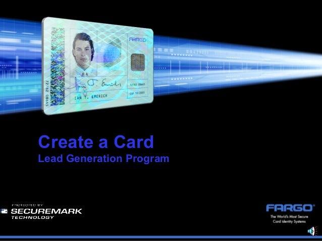 Create a CardLead Generation Program