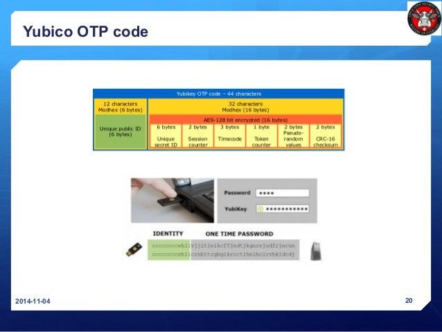 Yubico OTP code 2014-11-04 20