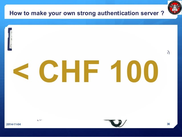 How to make your own strong authentication server ? 2014-11-04 36 SD card with Debian Linux for Raspberry Pi ($10) Real-ti...