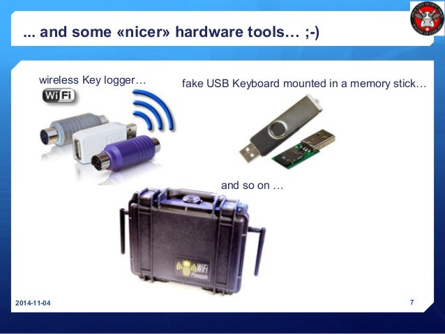 fake USB Keyboard mounted in a memory stick… ... and some «nicer» hardware tools… ;-) 2014-11-04 7 wireless Key logger… an...