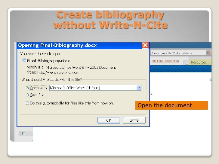 how to create a proper bibliography