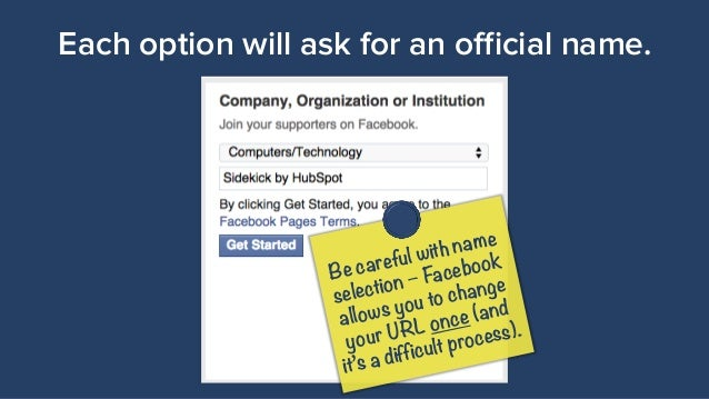 how to make facebook company page address