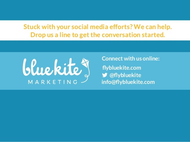 Stuck with your social media efforts? We can help.  Drop us a line to get the conversation started.  Connect with us onlin...