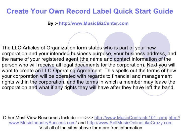 starting an independent record label Get into the independent record label business from the entrepreneur list of media/publishing business ideas.