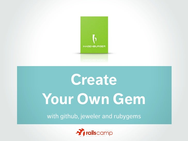 Create Your Own Gem with github, jeweler and rubygems