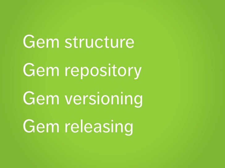 Create your-own-gem-with-github-jeweler-rubygems Slide 2