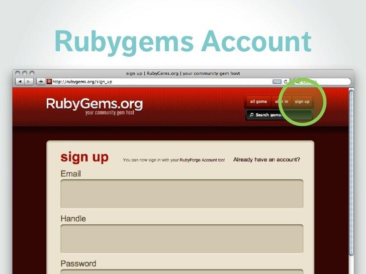 Rubygems Account