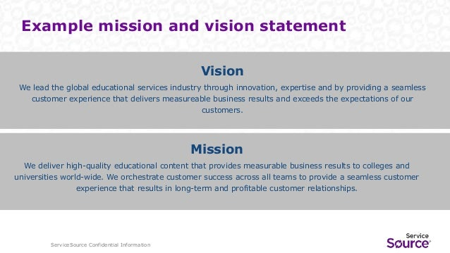 Marketing Department Mission Statement Examples Gallery Example