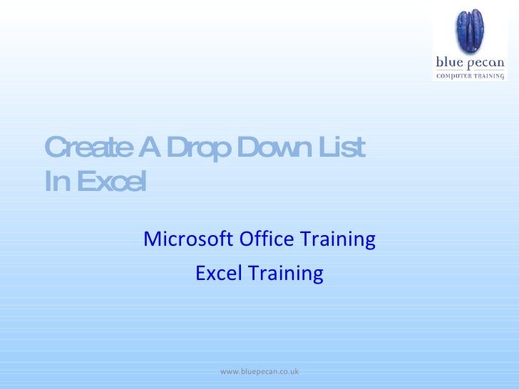 Create A Drop Dow List                  n In Excel       Microsoft Office Training            Excel Training              ...