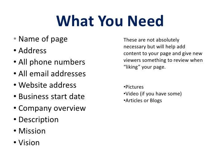 Create a facebook fan page Slide 3