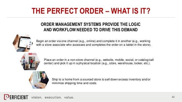 12 THE PERFECT ORDER – WHAT IS IT? ORDER MANAGEMENT SYSTEMS PROVIDE THE LOGIC AND WORKFLOW NEEDED TO DRIVE THIS DEMAND Shi...
