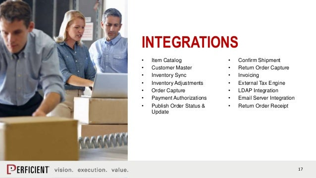 17 INTEGRATIONS • Item Catalog • Customer Master • Inventory Sync • Inventory Adjustments • Order Capture • Payment Author...
