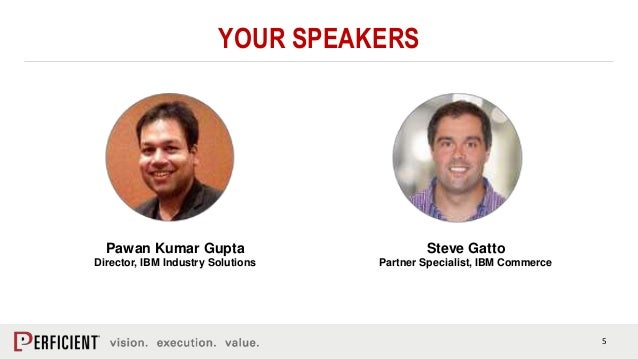 5 YOUR SPEAKERS Pawan Kumar Gupta Director, IBM Industry Solutions Steve Gatto Partner Specialist, IBM Commerce