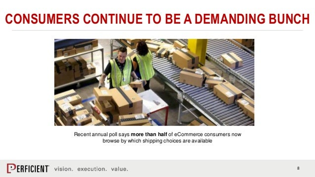 8 CONSUMERS CONTINUE TO BE A DEMANDING BUNCH Recent annual poll says more than half of eCommerce consumers now browse by w...