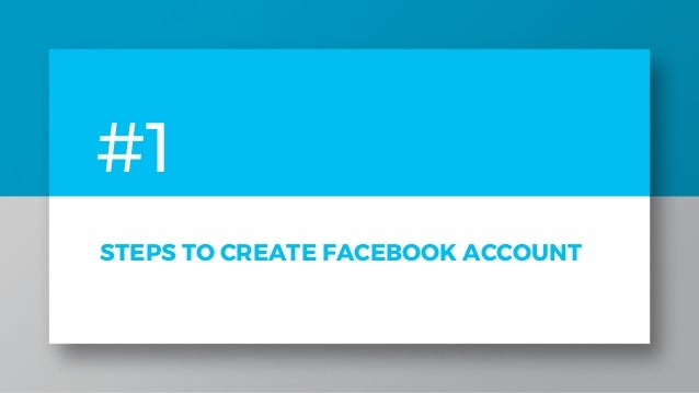 Create A New Facebook Account 1 844 773 9313