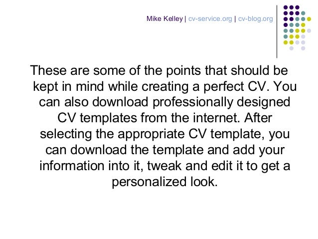 create a perfect cv to attract potential employers 4