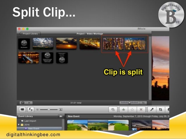 how to make a montage on imovie