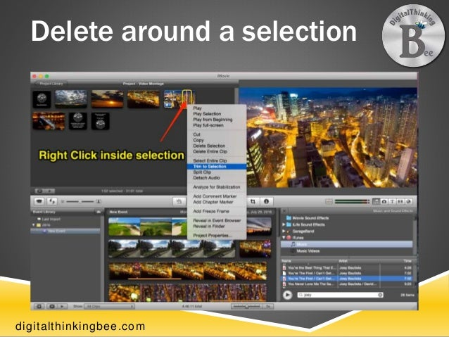 how to make a video montage on imovie