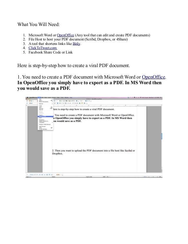 how to create writable pdf document