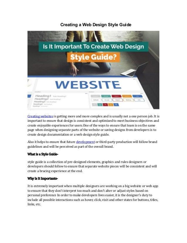 Create a web design style guide