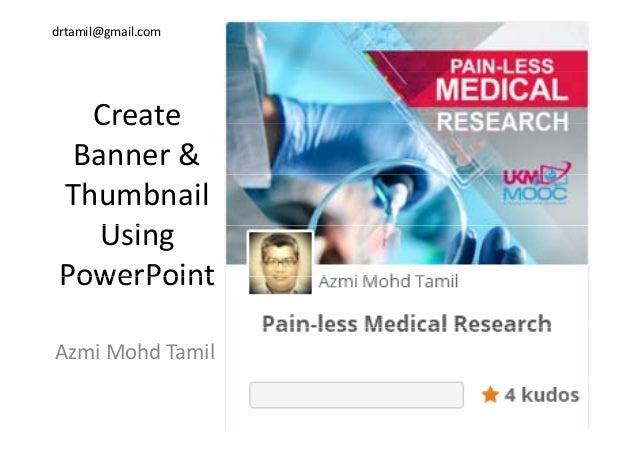 create banner thumbnail using powerpoint