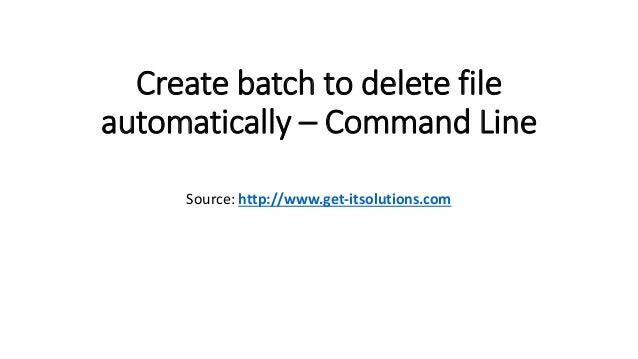 To delete batch file stored in %temp%