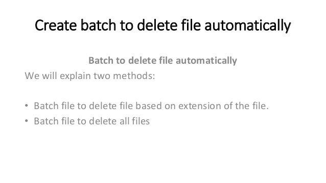 Batch script to delete file older than 30 days