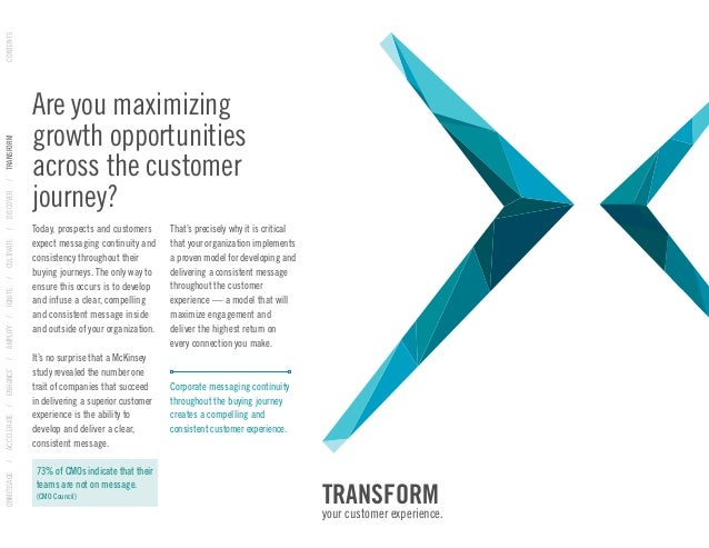 Create compelling and consitent customer experiences Slide 3