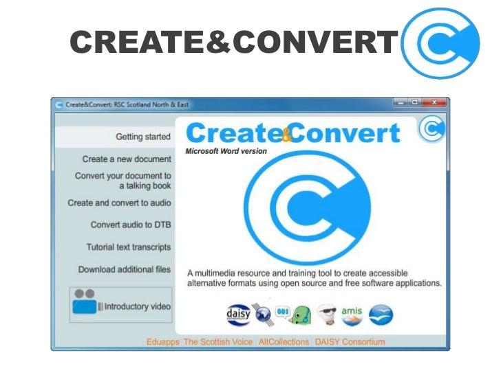 create&convert<br />
