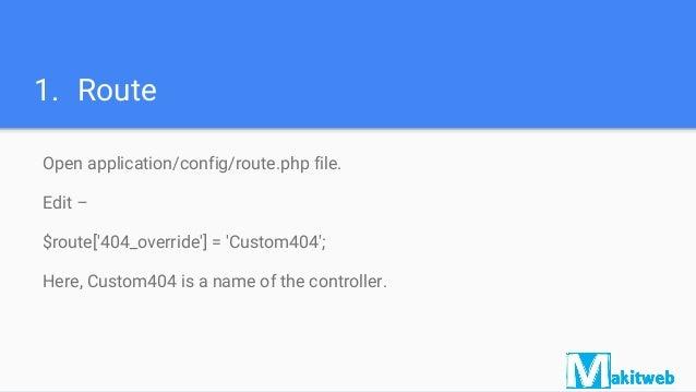 Create custom 404 error page in CodeIgniter