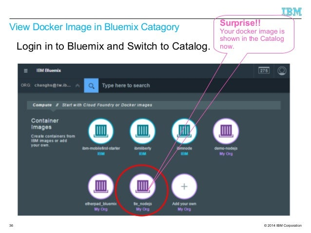 Create docker image with bluemix dev ops