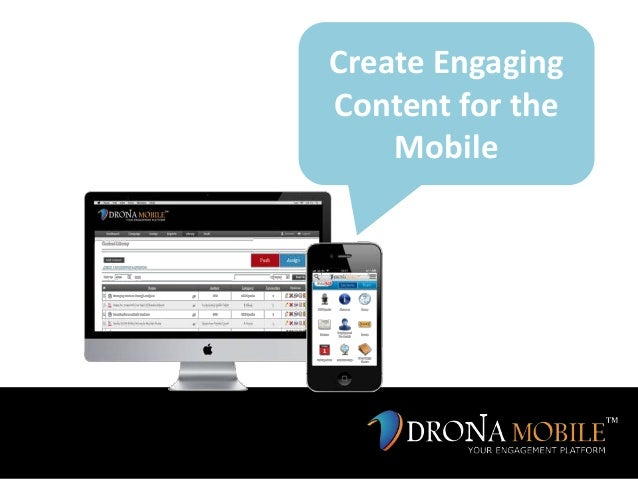 Create EngagingContent for theMobile