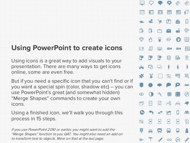 Create icons in PowerPoint Slide 2