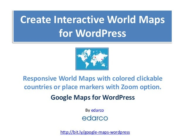 Create interactive world maps for wordpress create interactive world maps for wordpress by edarco responsive world maps with colored clickable countries or gumiabroncs Gallery