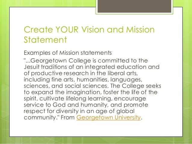 Create Your Mission And Vision