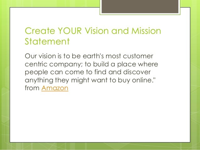 how to create a mission statement and vision