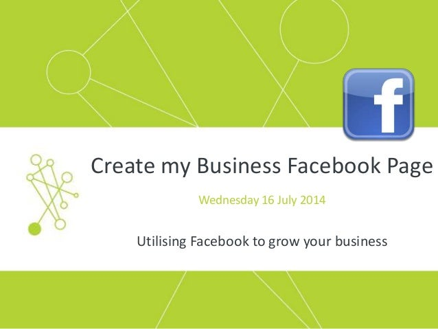 how to make a page on facebook for my business