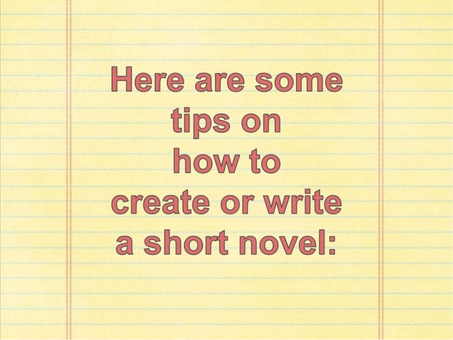 how to write a short novel