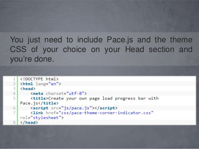 Create Page Load Progress Bar with Pace js