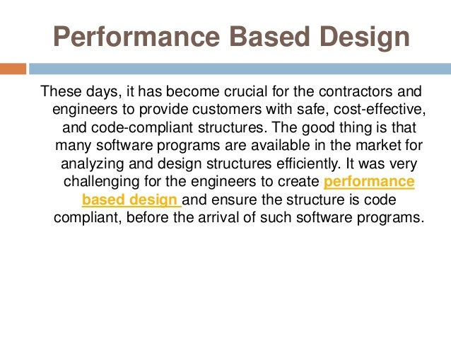 Create Performance Based Design Using Structural Design Software