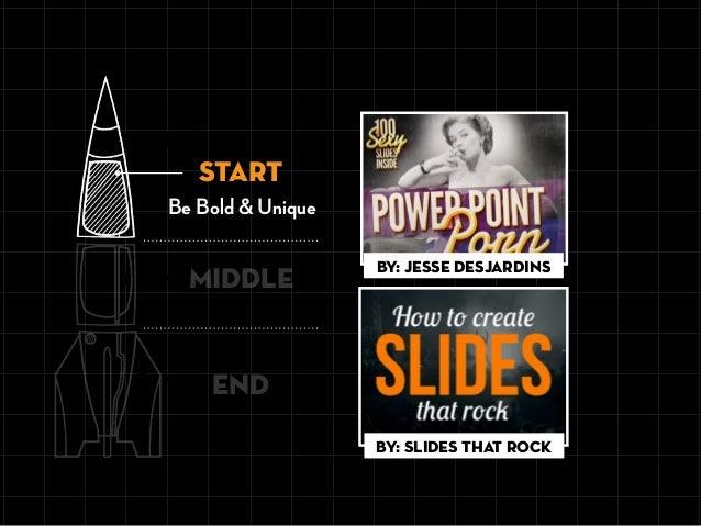 Be Bold & Unique START END MIDDLE By: Jesse Desjardins By: Slides That Rock